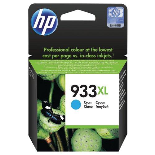 HP 933XL Cyan Officejet Inkjet Cartridge (Capacity: 825 pages) CN054AE