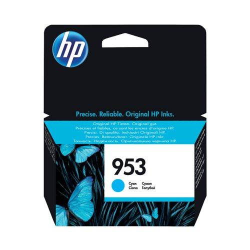 HP 953 Ink Cyan Cartridge (Standard Yield, 10ml, 700 Page Capacity) F6U12AE