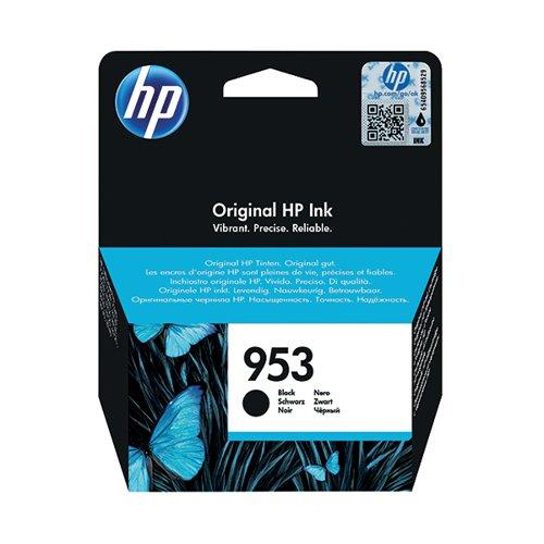 HP 953 Black Ink Cartridge (Standard Yield, 23.5ml, 1,000 Page Capacity) L0S58AE