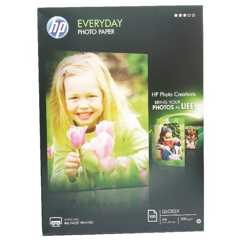HP EVERYDAY A4 GLOSS PHOTO PAPER PK100