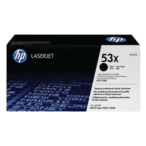 HP 53X Black High Yield Laserjet Toner Cartridge Q7553X