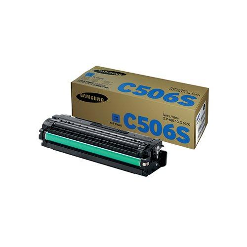 Samsung CLT-C506S Standard Yield Cyan Toner Cartridge SU047A