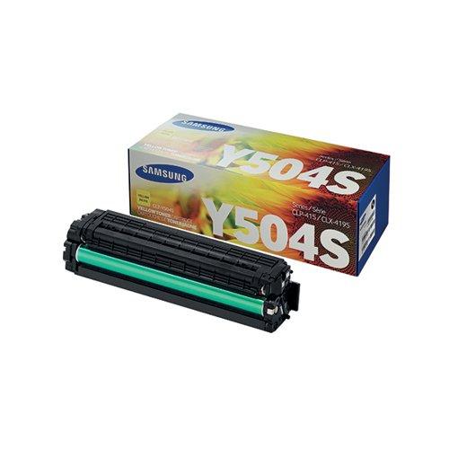 Samsung CLT-Y504S Yellow Standard Yield Toner Cartridge SU502A