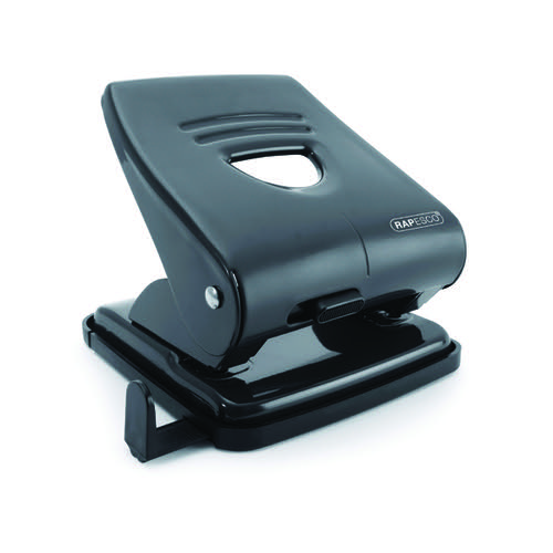 Rapesco 827 Hole Punch w/Paper Guide Capacity 30 Sheets Black PF827AB1