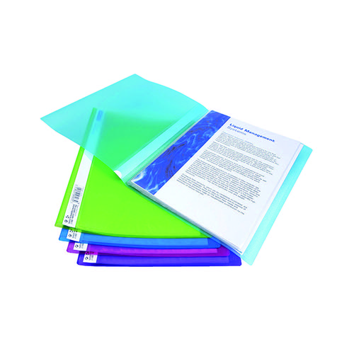 Rapesco Flexi Display Book 20 Pocket A4 Bright Assorted (Pack of 10) 0916