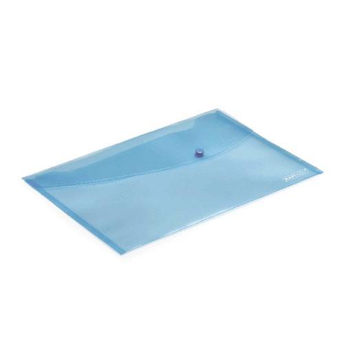 Rapesco Foolscap Pastel Blue Popper Wallet (Pack of 5) 0691