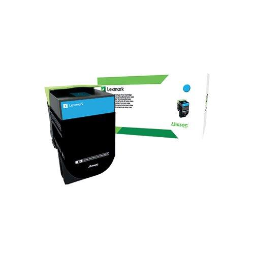 Lexmark 802C Cyan Toner Cartridge 80C20C0