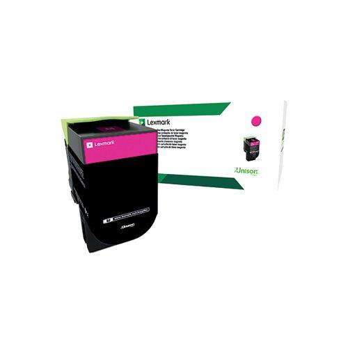 Lexmark 802M Magenta Toner Cartridge 80C20M0