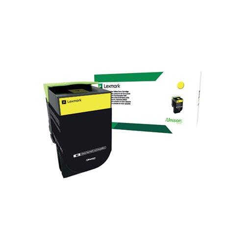 Lexmark 802Y Yellow Toner Cartridge 80C20Y0