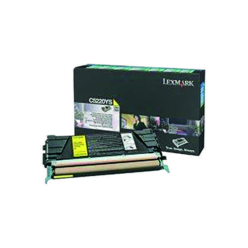 Lexmark C522 Yellow Return Program Toner Cartridge C5220YS