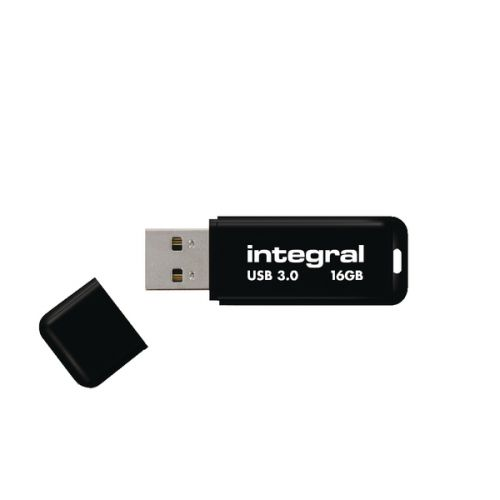Integral Black Noir USB 3.0 Flash Drive 16GB INFD16GBNOIR3.0