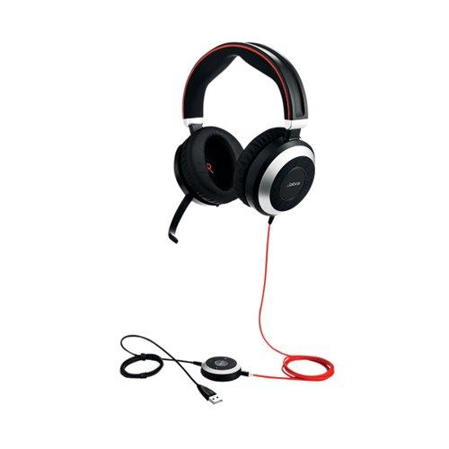 Jabra Evolve 80 MS Stereo Noise Cancelling Headset
