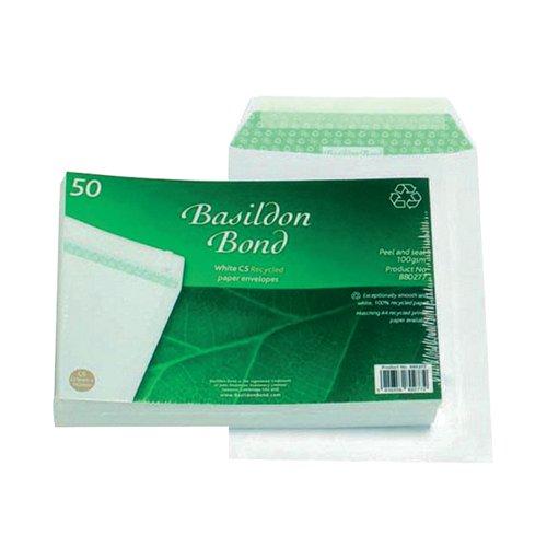 Basildon Bond C5 Envelopes Pocket Peel and Seal 120gsm White (Pack of 50) B80277