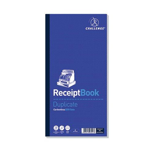 Challenge Duplicate Book 240 x 141mm Carbonless 200 Receipts