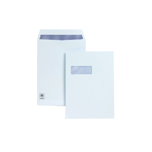 Plus Fabric Pocket Press Seal Window 120gsm C4 White PK250