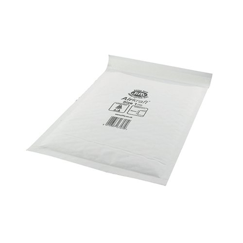 Jiffy AirKraft Bag Size 1 170x245mm White (Pack of 100) JL-1