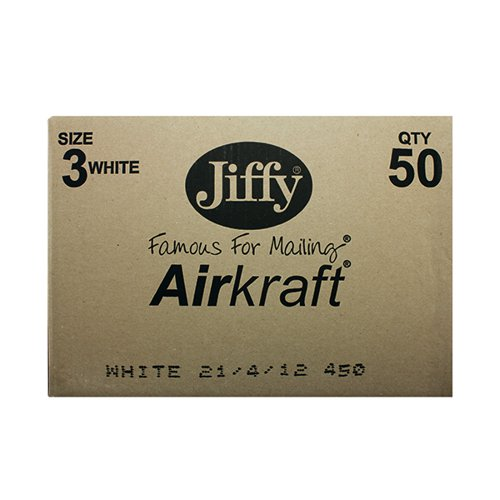 Jiffy AirKraft Bag Size 3 220x320mm White (Pack of 50) JL-3