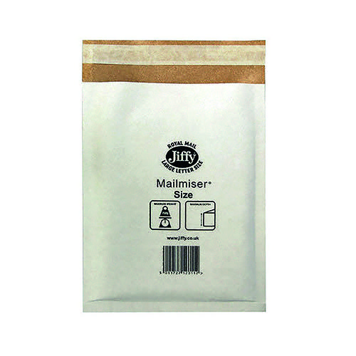 Jiffy Mailmiser Size 0 140x195mm White MM-0 (Pack of 100) JMM-WH-0