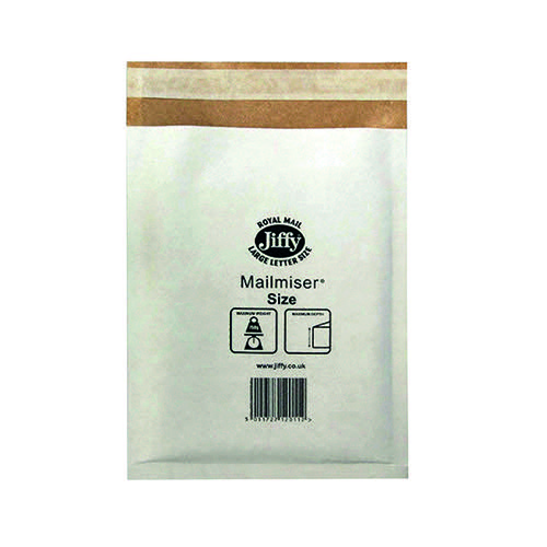 Jiffy Mailmiser Size 3 220x320mm White MM-3 (Pack of 50) JMM-WH-3