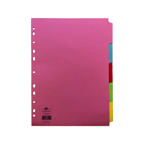 CONCORD A4 SUBJECT DIVIDER 5PT 71199/J11