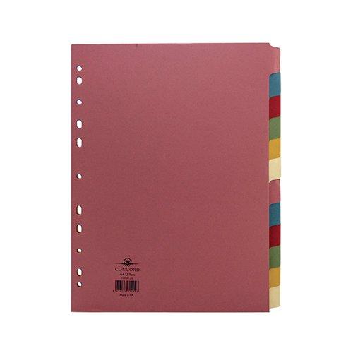 Concord Divider 12-Part A4 160gsm Multicoloured 71499/J14