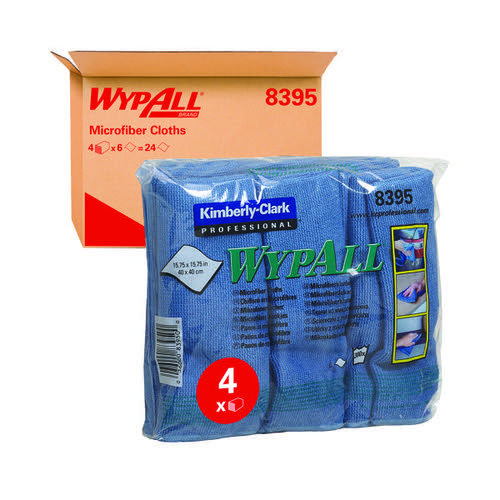Wypall Microfibre Cloth Blue Pk6 8395