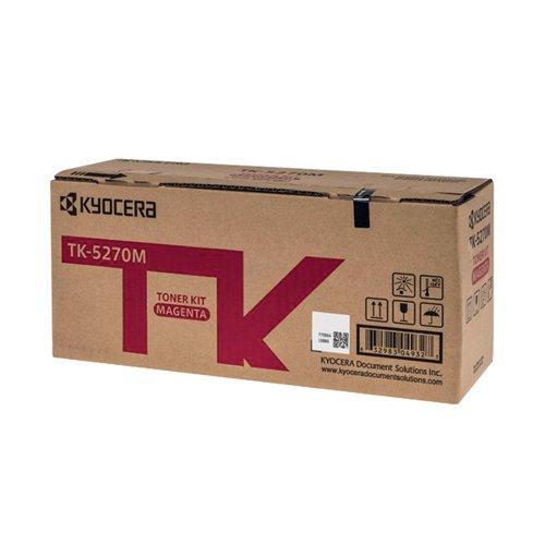 Kyocera 1T02TVBNL0 TK5270M Magenta Toner 6K