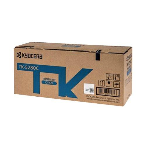 Kyocera Toner Cartridge Cyan TK-5280C (11000 page capacity) 1T02TWCNL0