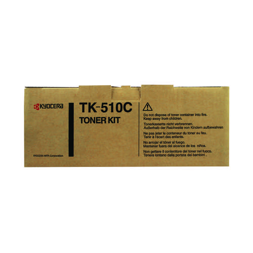 Kyocera Cyan Toner Cartridge High Capacity TK-510C - Ink and