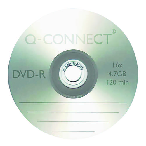Q-Connect DVD-R 4.7GB Cake Box (Pack of 25) KF00255