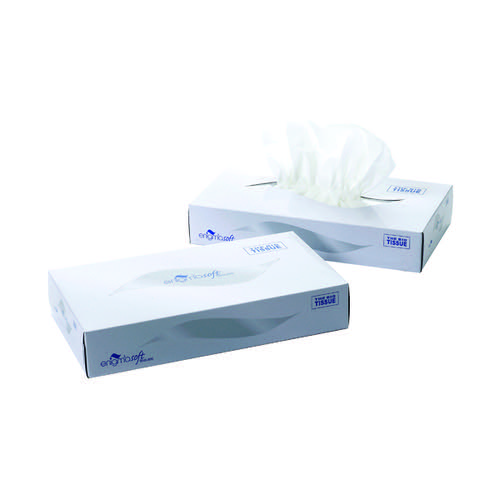 2-Ply White Facial Tissue Mansize 240x275mm 100 Sheets (Pack of 24) MSF100