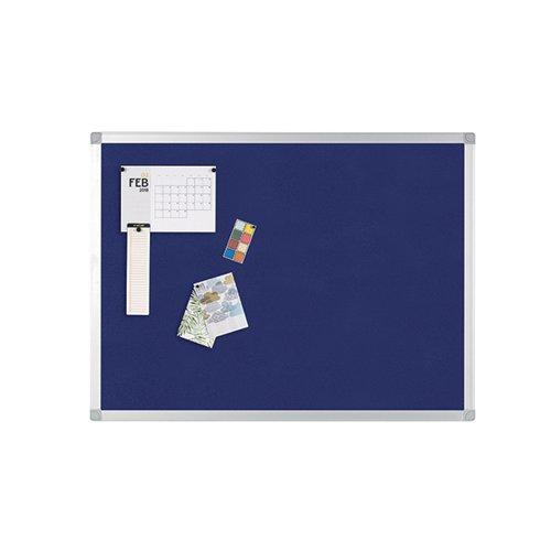 Q-Connect Notice Board 1200 x 900mm Aluminium Frame Blue 9700029