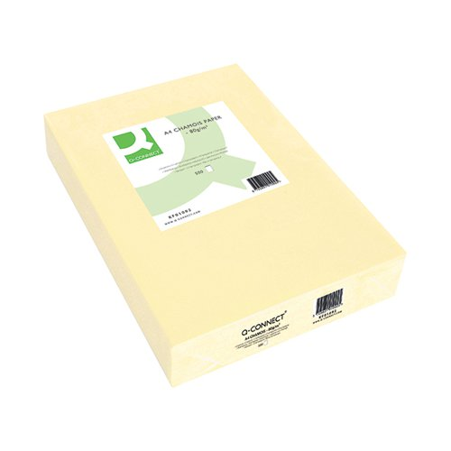 Q-Connect Coloured A4 Copier Paper 80gsm Cream Ream (Pack of 500) KF01092