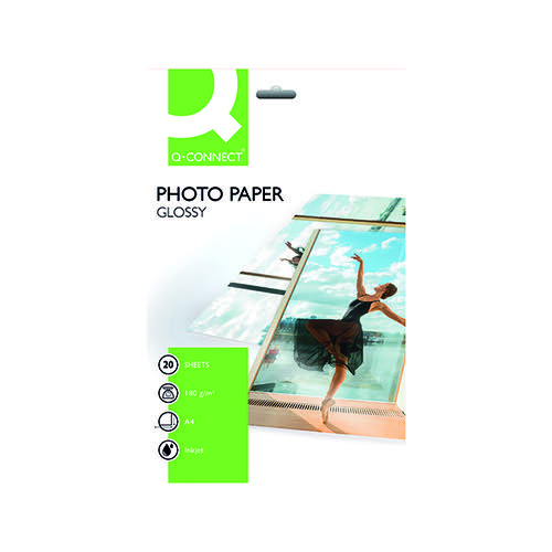 Q-Connect Photo A4 Gloss Paper Pk20