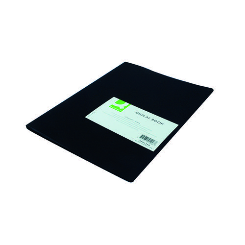 Q-Connect Polypropylene Display Book 10 Pocket Black KF01248