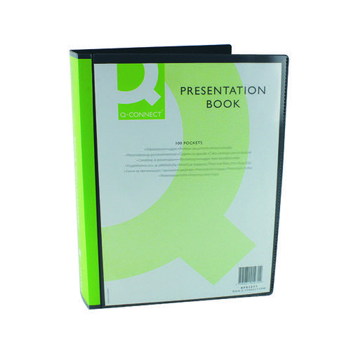 Q-CONNECT BLACK 100PKT PRES DISPLAY BOOK