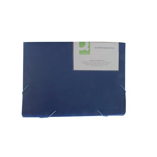 Q-Connect Expanding File 13-Pocket Blue A4 KF01275