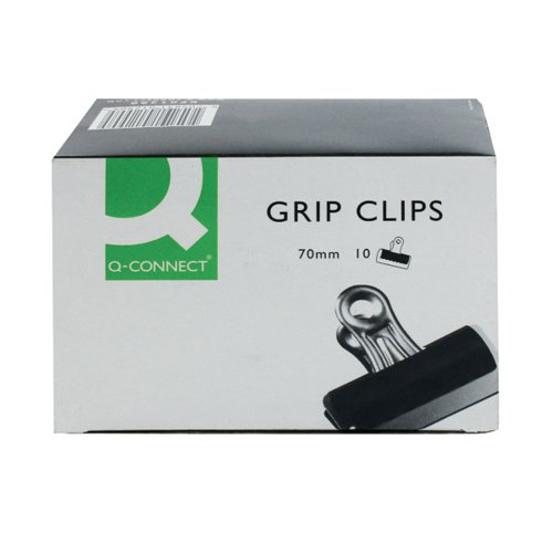 Q-Connect Grip Clip 70mm Black (Pack of 10) KF01290