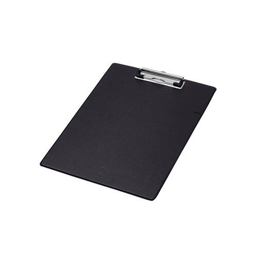 Q-Connect PVC Single Clipboard Foolscap Black KF01296