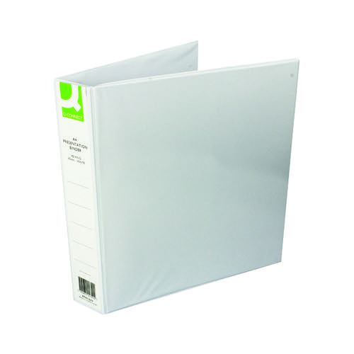 Q-Connect Presentation 40mm 4D Ring Binder A4 White (Pack of 6) KF01329Q