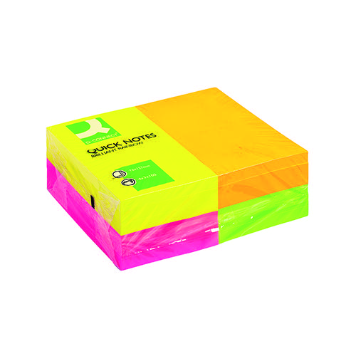 Q-Connect Quick Notes 76 x 127mm Neon (Pack of 12) KF01350