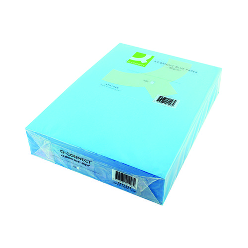 Q-CONNECT A4 BR/BLUE COLOURED PAPER REAM