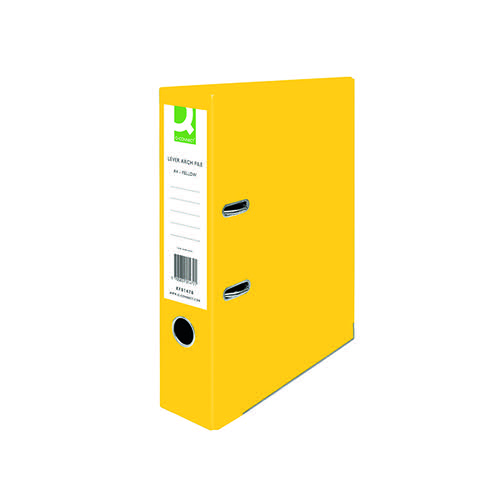 Q-CONNECT YELLOW A4 LEVER ARCH P/BD PK10