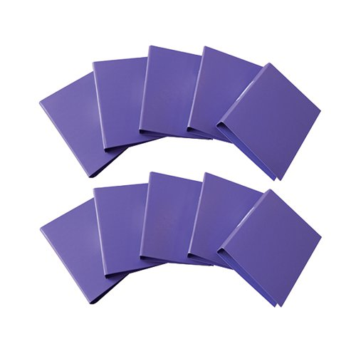 Q-Connect 25mm 2 Ring Binder Polypropylene A4 Purple (Pack of 10) KF01474