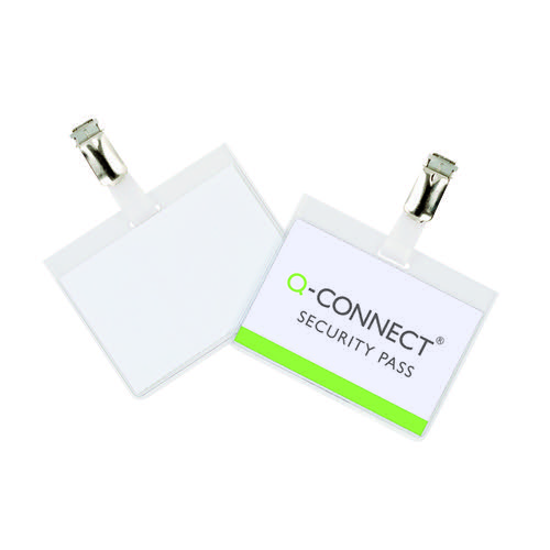 Q-Connect Security Badge 60x90mm (Pack of 25) KF01562