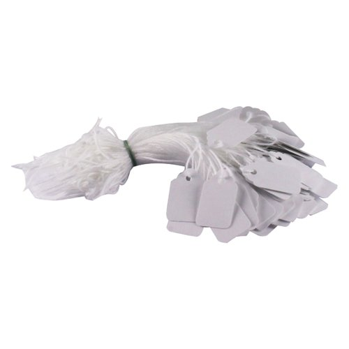 Strung Ticket 27x16mm White (Pack of 1000) KF01616