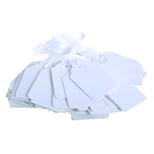 Strung Ticket 30x21mm White (Pack of 1000) KF01617