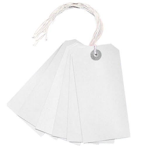 White Strung Tag (Pack of 1000) KF01623