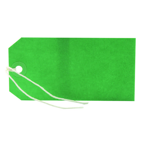 Strung Tag 120x60mm Green (Pack of 1000)