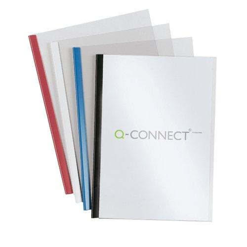 Q-Connect Black A4 5mm Slide Binder and Cover Set (Pack of 100) KF01940